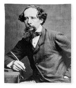 Charles Dickens Fleece Blanket