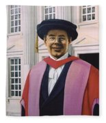 Charles Harpum Receiving Doctorate Of Law Fleece Blanket