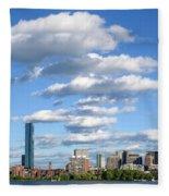 Charles River Cloud Stack Boston Ma Fleece Blanket