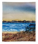 Charleston At Sunset Fleece Blanket