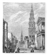Charleston: Church, 1861 Fleece Blanket