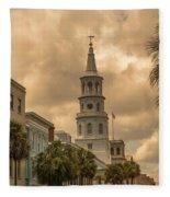 Charleston Light Fleece Blanket