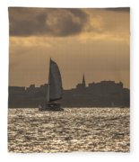 Charleston Sailing Fleece Blanket