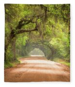 Charleston Sc Edisto Island Dirt Road - The Deep South Fleece Blanket