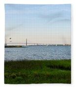 Charleston South Carolina Waterfront Park During Sunset Fleece Blanket