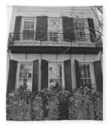Charleston Style Home Black And White Fleece Blanket