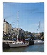 Charlestown Harbour Cornwall Fleece Blanket