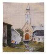 Charlevoix Quebec Fleece Blanket