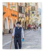 Charlie Chaplin In Innsbruck Fleece Blanket