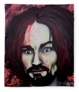 Charlie Manson Fleece Blanket