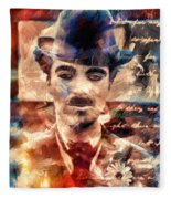 Charlot Colors And Poems  Fleece Blanket