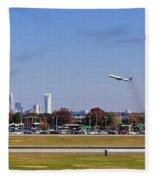 Charlotte Airport Fleece Blanket