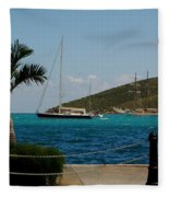 Charlotte Amalie Harbor Fleece Blanket
