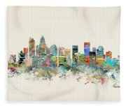Charlotte City Fleece Blanket