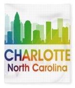 Charlotte Nc Fleece Blanket