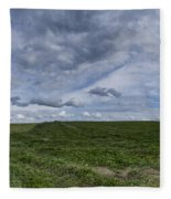 Charlotte Vermont Hay Field Farm Grass Fleece Blanket
