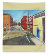 Charlottesville Street Fleece Blanket