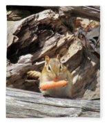 Charming Chipmunk Fleece Blanket
