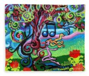 Chase Of The Faerie Note Bubble Fleece Blanket