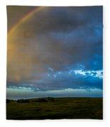 Chasing Nebraska Lightning 009 Fleece Blanket