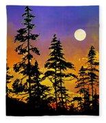 Chasing The Moon Fleece Blanket
