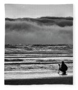 Chasing Tide And Light Fleece Blanket