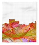 Chatanooga Tennissee Skyline Fleece Blanket