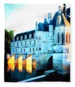 Chateau De Chenonceau Fleece Blanket