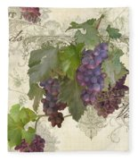 Chateau Pinot Noir Vineyards - Vintage Style Fleece Blanket