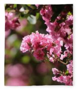 Chateau Rose Pink Flowering Crepe Myrtle  Fleece Blanket