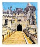 Chateau Saumur, A Long Way Up Fleece Blanket