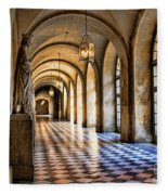 Chateau Versailles Interior Hallway Architecture  Fleece Blanket