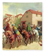 Chaucer's Pilgrims Fleece Blanket