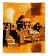 Chaukhandi Tombs Fleece Blanket
