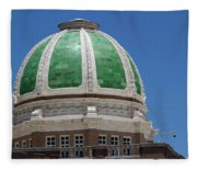 Chaves County Courthouse Green Terracotta Dome Fleece Blanket