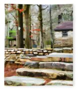 Cheaha State Park In The Fall Fleece Blanket