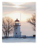 Cheboygan Harbor Light Fleece Blanket
