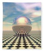 Checker Ball Fleece Blanket