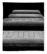 Checkered Steps Fleece Blanket