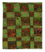 Checkoff Abstract Pattern Fleece Blanket
