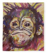Cheeky Lil' Monkey Fleece Blanket