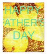 Cheerful Father's Day Fleece Blanket
