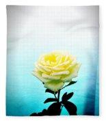 Cheerful Yellow Rose Fleece Blanket