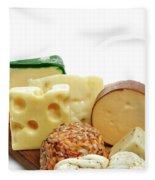 Cheese Slices Fleece Blanket