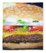 Cheeseburger Deluxe Fleece Blanket