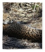 Cheetah Awakened Fleece Blanket
