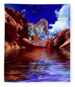 Cheetah Lake Fleece Blanket