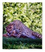 Cheetahs In Love Fleece Blanket