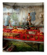 Chef - Vegetable - Jersey Fresh Farmers Market Fleece Blanket