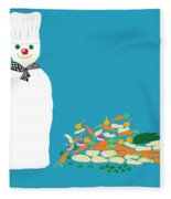 Chef Snowman Fleece Blanket
